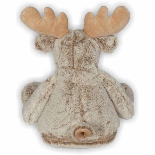 süßer Elch mit beigen flauschigem Fell und prächtigem Geweih
