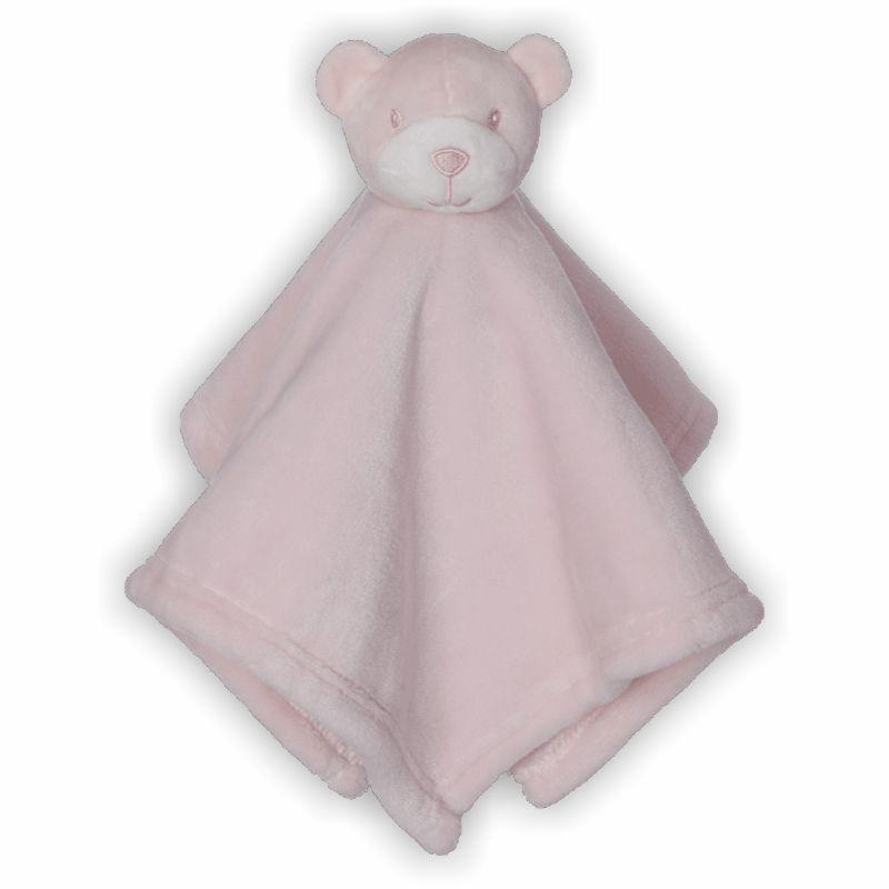 Schmusebuddy Schnuffeltuch Bär mini rosa