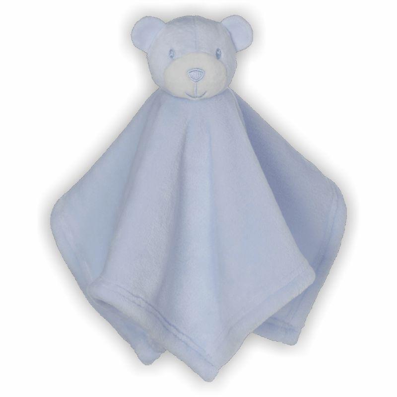 Schmusebuddy Schnuffeltuch Bär mini blau
