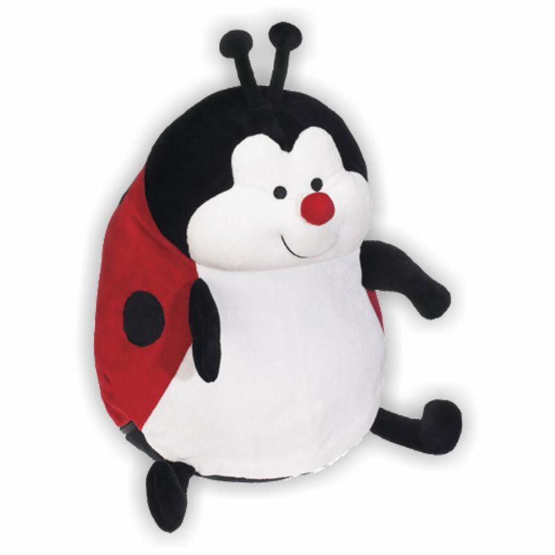 Roter pummeliger Marienkäfer mit süßem Gesicht