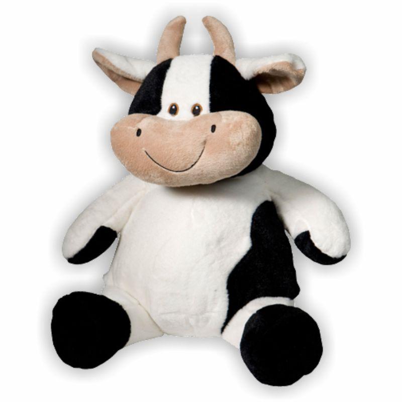 Kuh mit weichem Fell und süßem Lächeln