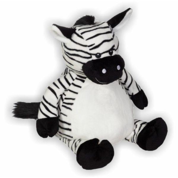 Süßes Zebra mit niedlichen spitzen Ohren und weicher Mähne