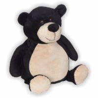 Schwarzbär mit weichem Fell und süßen braunen Augen