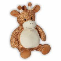 Günther hat ein schönes Giraffenmuster und ist ideal zum kuscheln